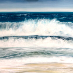 """""""Fistral Beach, Newquay"""" Original oil on canvas painting. Width 102cm x Height 76cm or 40 x 30 inches. Signed. Unframed. With a certificate of authenticity. Free UK shipping."""